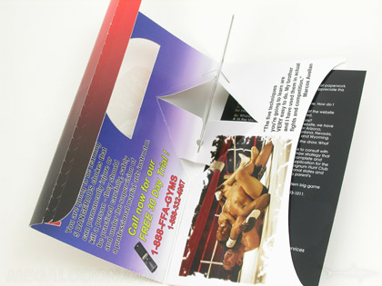 custom die cut dvd mailer 3d pop up disc