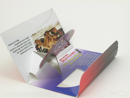 die cut dvd pop up packaging mailer