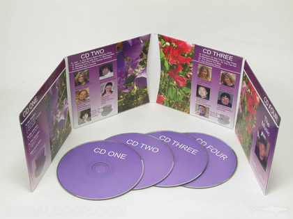 4cd jacket multidisc packaging 8pp jacket with 4 pockets