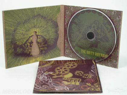 custom cd cover with die cut shape and fiberboard stock