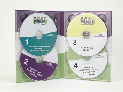 4Disc Set with double disc trays, 7inch height, 4pp Tall tray pak