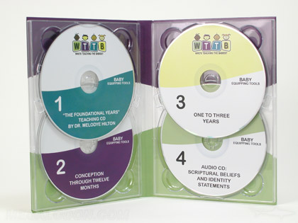 Double disc traypak for 4 discs multi disc set packaging