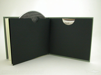 CD DVD Book Glued Sleeve Pocket Swinging Sleeve Black Kraft Paper