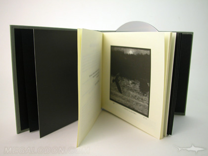 cd book with cream colored inner pages uncoated