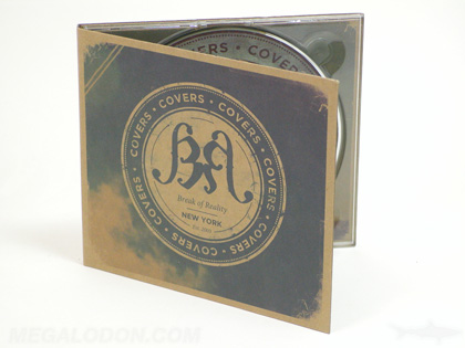 eco friendly fiberboard cd packaging with clear tray