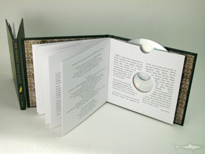 cd book packaging inner pages attached to swinging sleeve