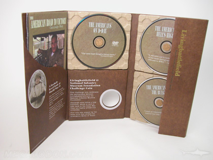 dvd paper tray packaging 3 disc set limited edition with die cut