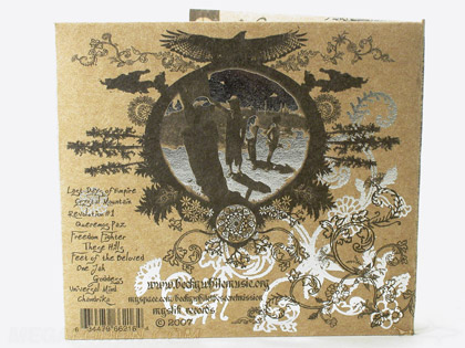 foil stamping on fiberboard cd cover jacket