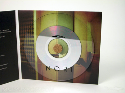 clear cd with cork hub jacket packaging