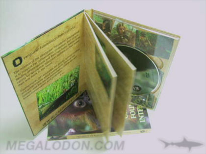 dvd book stapled booklet