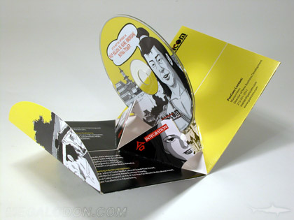 die cut cd pop up packaging