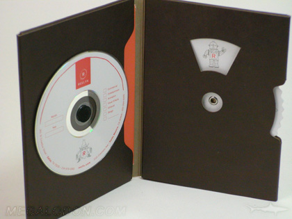 custom die cut dvd packaging foam hub spinny wheel fiberboard stock