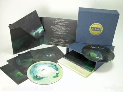Multidisc Fabric wrapped slipcase set multiple volumes cd titles
