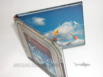 cd book perfect bound booklet glued back cover top view