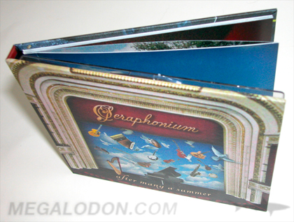 cd book packaging tray inner pages perfect bound glued back cover
