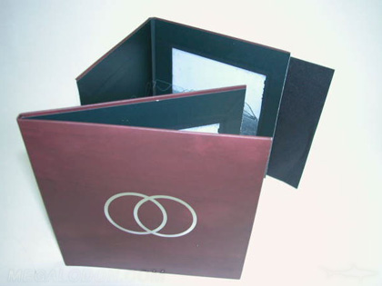 CD Album Packaging Thick chipboard core laminated wrap