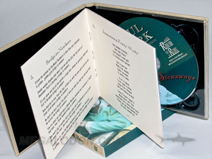 cd book stapled booklet inner pages