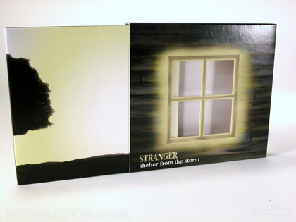 custom cd slipcase die cut window