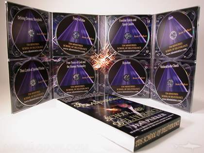 Multidisc digipak set packaging 8 discs cd or dvds eight trays