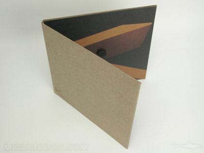 Custom LP jacket with magnetic closure and fiberboard stock - custom cd packging