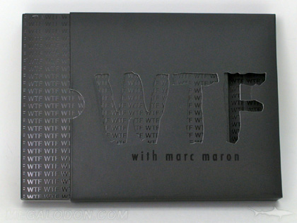 Double disc Slipcase with die cut lettering spot gloss and matte lamination