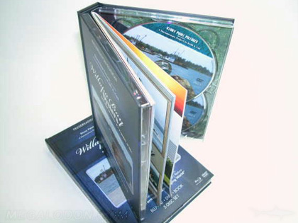 DVD hard bound book with double disc trays 5 disc set multidisc packaging