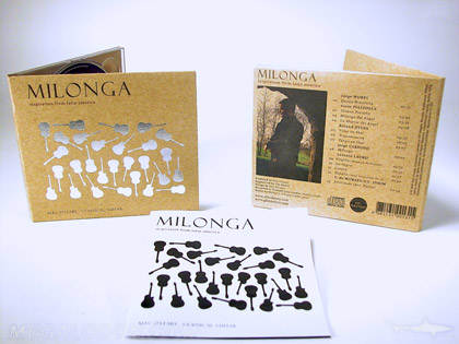 Digipak fiberboard foil cd packaging