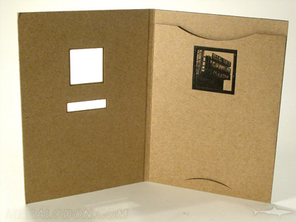 custom die cut dvd packaging fiberboard stock disc business card