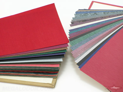 cd dvd book cloth binding paper samples fabric leatherette vinyl