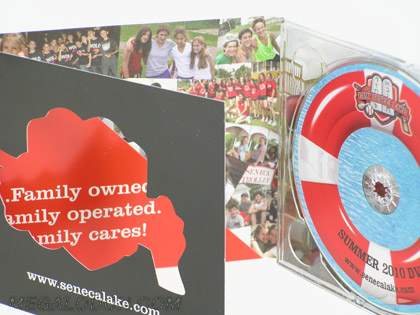 custom die cd packaging with diecut window