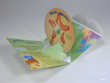 custom die disc packaging popup pak