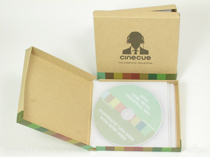 Deluxe Printed Boxes Vellum cd sleeves in chipboard box set packgaing