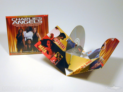 DVD pop up pack custom diecut