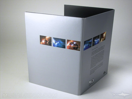 digipak  silver metallic ink printing apple look