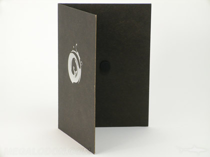 eco dvd packaging with black fiberboard paper