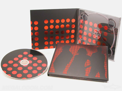 Foil printing red design cd digipak packaging