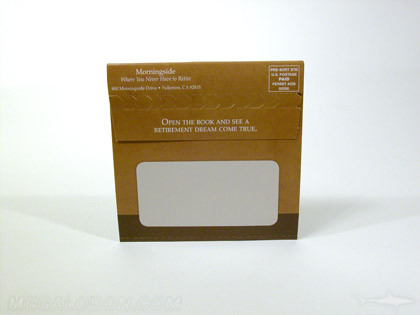 cd popup mailer packaging address uncoated area