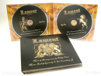 vintage double disc cd packaging