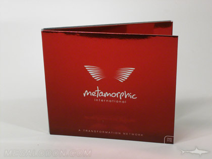 Foil paper wrapping CD packaging with red foil paper