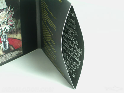 cd jacket with inside pocket printing