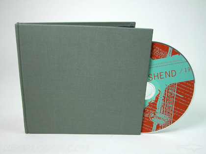 fabric cd book packaging linen cloth cover chipboard core