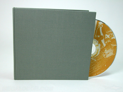 CD DVD fabric wrapped hard cover packaging