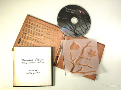 antique cd packaging look with distressed matte paper
