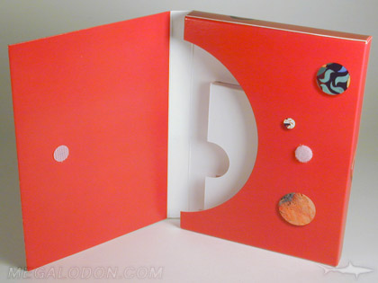 multidisc set box packaging, cd or dvd with shelf inside, fits 6 discs nicely
