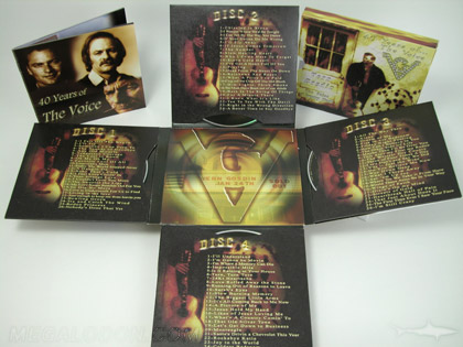 die cut cross shaped cd packaging 4disc set