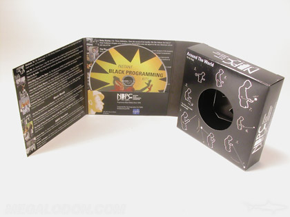 custom die cd packaging box disc and yo yo
