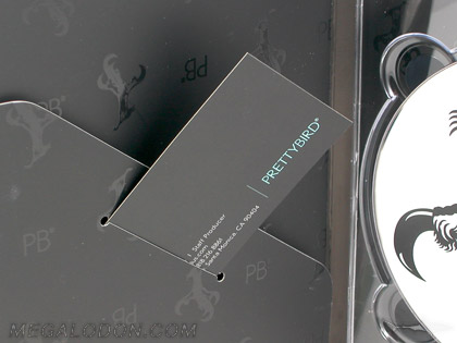 foil stamping business card in dvd packaging digipak