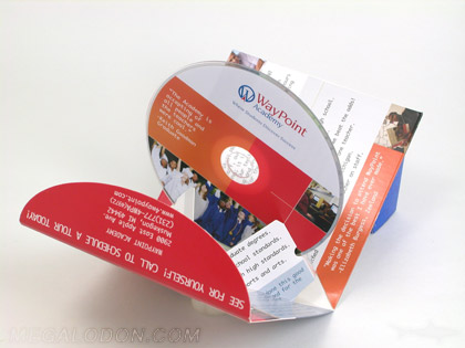 die cut dvd pop up 3d packaging