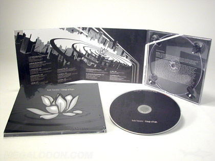 cd pacakging with silver metallic ink printing