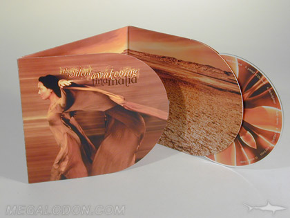 custom die cd packaging music curved pockets